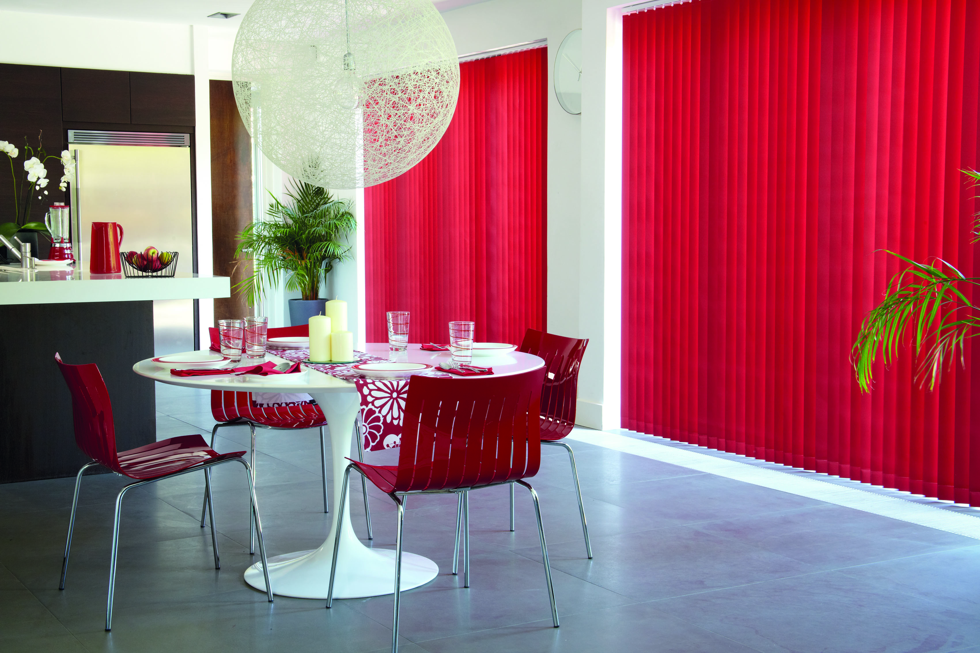 Blinds for dining room